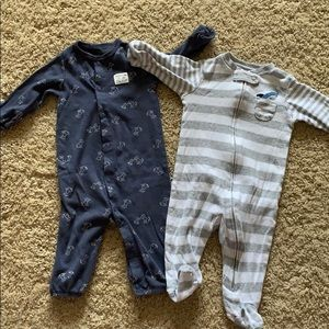 Carter's 6 Month Boy Sleep & Play Outfits